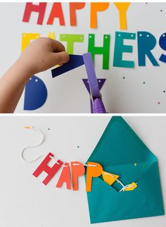 DIY father's Day banner | Tutorial at Modern Parents, Messy Kids