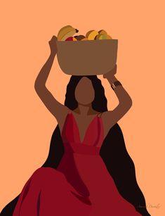 Black Love Art, Black Girl Art, Art Girl, Black Art Painting, Black Artwork, Arte Black, Woman Illustration, Feminist Art, Afro Art