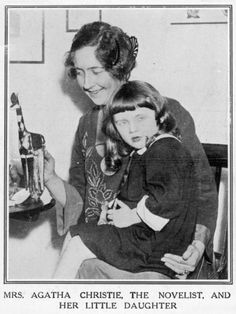 Agatha & her daughter, Rosalind in 1926