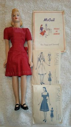 1945 simplicity fashiondol mannequin doll w sewing book patterns mode miniature pinterest. Black Bedroom Furniture Sets. Home Design Ideas