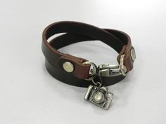 Leather Bracelet Leather Cuff Double Round Wrap Brown by BeadSiam, $9.00