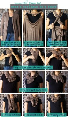 {DIY} Quick change: Sweater to Scarf