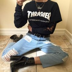 Awesome 32 Best Grunge Outfits to Wear Everyday from https://www.fashionetter.com/2017/06/02/32-best-grunge-outfits-wear-everyday/