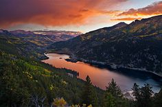 Lake San Cristobal, lake city, Colorado, US