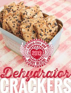 #glutenfree & Heart Healthy Onion & Sundried Tomato Almond Crackers for American Heart Month