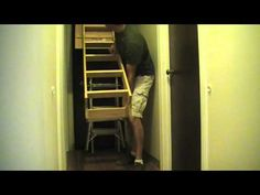 How to Install Pull Down Attic Stairs - YouTube
