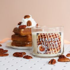This fan-favorite Candle is BACK! Pumpkin Pecan Waffles | #JumpIntoFall