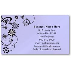 Black and White Floret Business Card #BusinessCards