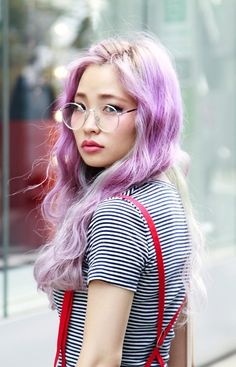 Not sure what she used, but it looks exactly like Manic Panic Mystic Heather. Beautiful.