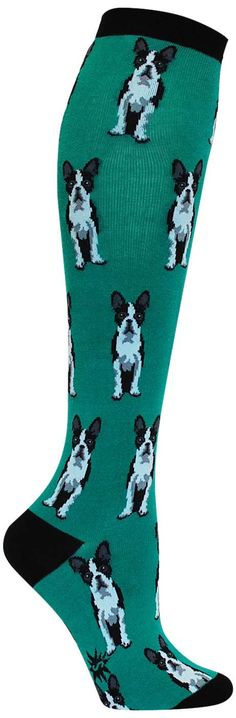Boston Terriers Knee High Socks