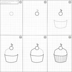 How to draw a cupcake.