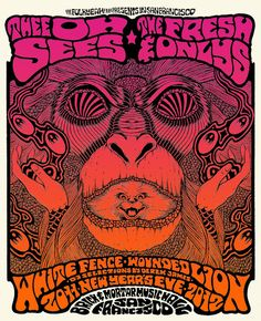 Thee Oh Sees poster by Alan Forbes  http://www.gigposters.com/designer/1303_Alan_Forbes.html