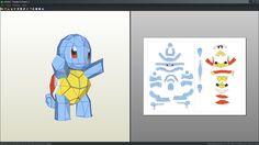 Squirtle pokemon papercraft unfold by Antyyy.deviantart.com on @DeviantArt