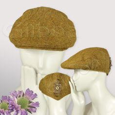 Ladies Tweed Flat Cap  - GILBOA FOR THE LADY  #HatAcademy #millinery #hats