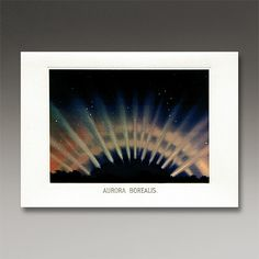 Museum of Jurassic Technology Gift Shop — 'Aurora Borealis' Note Card