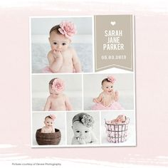 Blog Board & Collage Template Storyboard 16x20 for Photographers