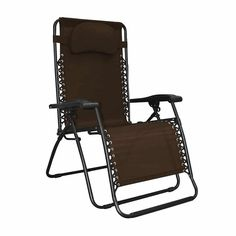 The Caravan Sports Infinity Oversized Zero Gravity Chair offers the ultimate portable comfort. This oversized model is an additional wider, so there is mo Outdoor Folding Chairs, Folding Seat, Patio Lounge Chairs, Camping Chairs, Garden Chairs, Pool Lounge, Dining Chairs, Patio Furniture Sets, Outdoor Furniture