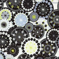 Timeless Treasures House Designer - Doodle - Wheels in White Hawthorne Threads!