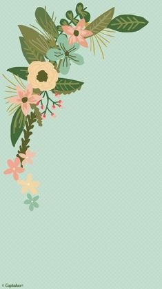 Floral 137 all things wonderful in 2019 simple iphone wallpaper, iphone wal Iphone Wallpaper Themes, Simple Iphone Wallpaper, Wallpaper Backgrounds, Iphone Wallpapers, Phone Wallpaper Cute, Mint Green Wallpaper Iphone, Wallpaper Samsung, Disney Wallpaper, Wallpaper Quotes