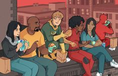 MARVEL's Defenders! - Jessica Jones, Luke Cage, Iron Fist, Misty Knight, Claire Temple, Daredevil