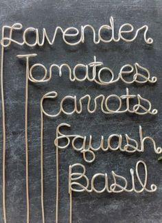 You'll have the most organized (and charming) garden of them all. Grab you custom garden markers and start planting