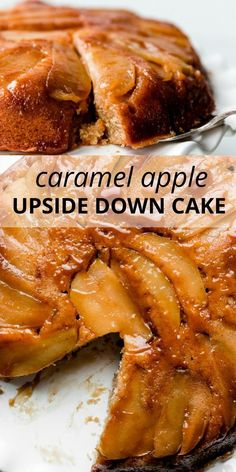 This caramel apple upside down cake is a fall must-make. Combining a soft cinnamon-spiced cake with buttery caramelized apples, we're essentially getting two desserts in one. Recipe on sallysbakingaddiction.com