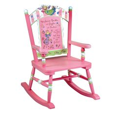 Your little one will love the soft colors and pretty fairies of the Fairy Wishes Rocking Chair from Wildkin. Perfect for a bedroom or playroom, this chair will be your favorite kid's special place to read, relax, and rock. Wooden Rocking Chairs, Childrens Rocking Chairs, Wooden Chairs, Nursery Furniture, Kids Furniture, Street Furniture, Furniture Plans, Nursery Decor, Room Decor