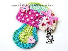 Crochet applique. Six free patterns.