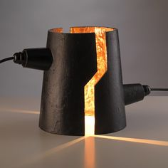 Designers Kranen/Gille of Heusden in the Netherlands will present a collection of split-open lamps at Design Miami/Basel next week.