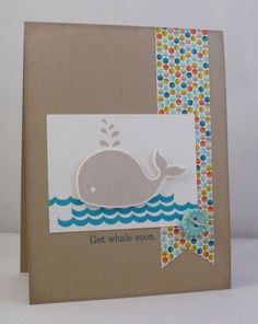 i STAMP by Nancy Riley---uses Stampin Up's Oh Whale stamp set