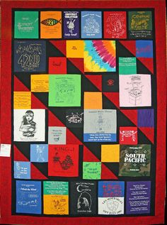 Another idea for T-shirt quilt layout