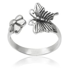 Tressa Collection Sterling Silver Butterfly Ring   Overstock™ Shopping - Top Rated Tressa Collection Sterling Silver Rings