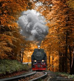 "A steam train climbing up the Harz mountains, Germany. Feel free to follow me on <a href=""https://www.facebook.com/pages/Alexander-Riek-Photography/588013561261816"">FACEBOOK</a> or to visit my <a href=""http://www.photographichorizons.com"">WEBSITE</a>"