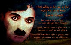 Charlie Chaplin ~ Walking in the rain