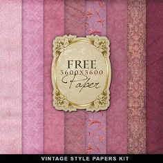 ❥ Freebies Old Style Romantic Papers