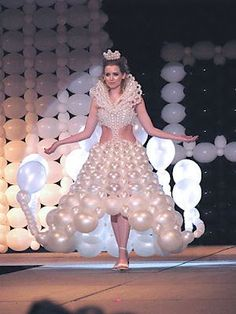 White Balloon Wedding Dresses Designs Ideas  balloonsfast.com