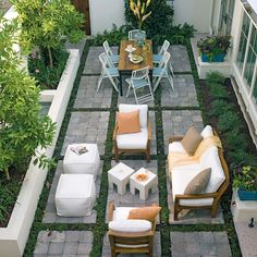 Small Backyard Patio Ideas Patio Ideas for Small Backyards Small Backyard Patio Ideas. Ideas for small backyard patios are endless! Don't be discouraged if your backyard is tiny and you think… Outdoor Rooms, Outdoor Dining, Outdoor Gardens, Outdoor Furniture Sets, Outdoor Decor, Outdoor Seating, Table Seating, Garden Seating, Garden Table