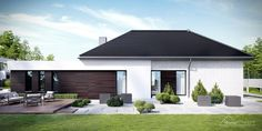 Projekt domu HomeKONCEPT-32 | HomeKONCEPT Unique House Plans, New House Plans, Best Modern House Design, Garden Canopy, Bungalow House Plans, New Homes, Outdoor Decor, Home Decor, Buenas Ideas