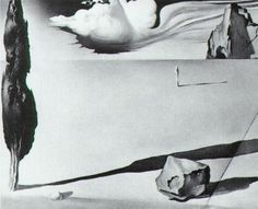 Design for the set of the film 'Spellbound' - Salvador Dali