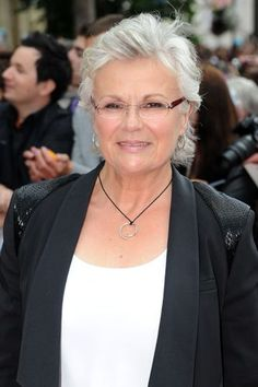She looked fantastic as the red-headed Weasley mother in Harry Potter, but Julie Walters' silver embrace is simply magical.