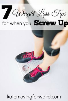 Sometimes things don't go like you planned...don't get discouraged! Great tips for when you screw up and need to get back on the wagon.