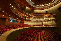 Inside the elegant opera house in the National Grand Theater in Beijing.  Also known as the National Centre for the Performing Arts.