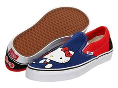 I have no words. Vans Classic Slip-On™ (Hello Kitty) (Hello Kitty) Blue/Red - Zappos.com Free Shipping BOTH Ways