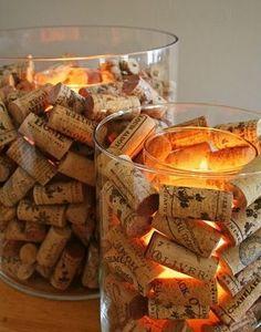 """Zo'n """"wijnlicht"""" is niet alleen leuk voor binnen maar staat ook super gezellig buiten. http://www.flesjewijn.com/"""