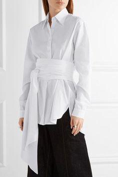 TOME - Cotton-poplin Shirt - White - US8