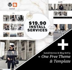 Install Service + One Free Theme & Template