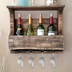 Reclaimed wine rack - small top shelf from (del)HutsonDesigns on OpenSky
