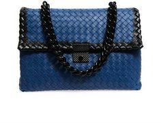 Bottega Veneta Bi-colour intrecciato leather shoulder bag   #Chic Only #Glamour Always