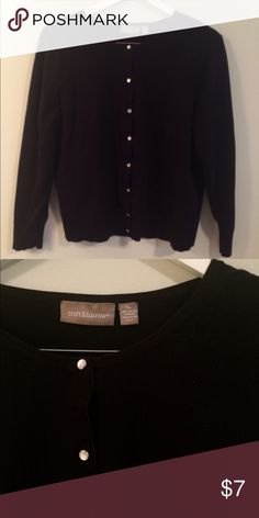 Basic Black Cardigan Great used condition perfect staple for any closet! croft & barrow Sweaters Cardigans