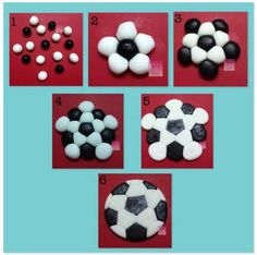 Easy soccer ball topper - CakesDecor